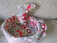 Лежак Прованс з рюшами 380*350*130. Для кроля, морської свинки, тхора, щури, єнота, собаки, кота та ін