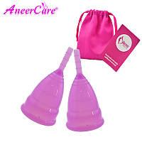 Менструальна чаша Набір розмір S і L у подарунковому мішечку Фіолетова GS046