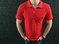 Мужская футболка поло   Червона