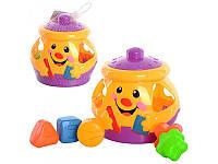 Детская развивающая игрушка Горшочек-сортер 2317
