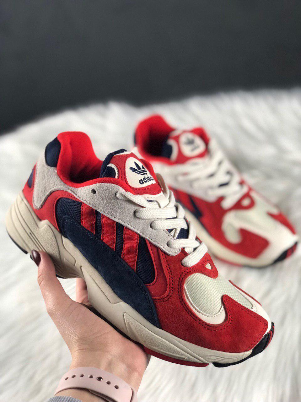 Женские кроссовки Adidas Yung 1 Red, Женские Адидас Янг 1 Красные