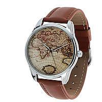 Стильные наручные часы Карта мира ZIZ (Украина)