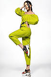 Летний женский костюм из льна размер 42 - 48 цвет бежевый, фото 10