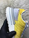 Женские кроссовки Adidas ZX 500 Bold Gold, Женские Адидас З Икс 500 Желтые, фото 3