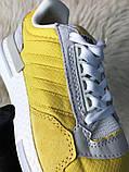 Женские кроссовки Adidas ZX 500 Bold Gold, Женские Адидас З Икс 500 Желтые, фото 9
