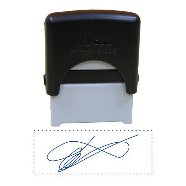 Факсимиле, подпись 14x38 мм с оснасткой Shiny S-222