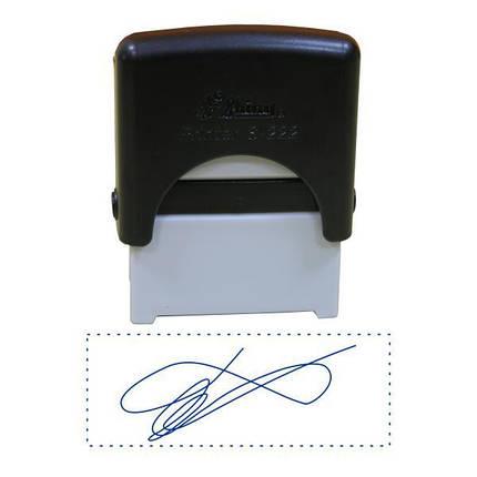 Факсимиле, подпись 14x38 мм с оснасткой Shiny S-222, фото 2