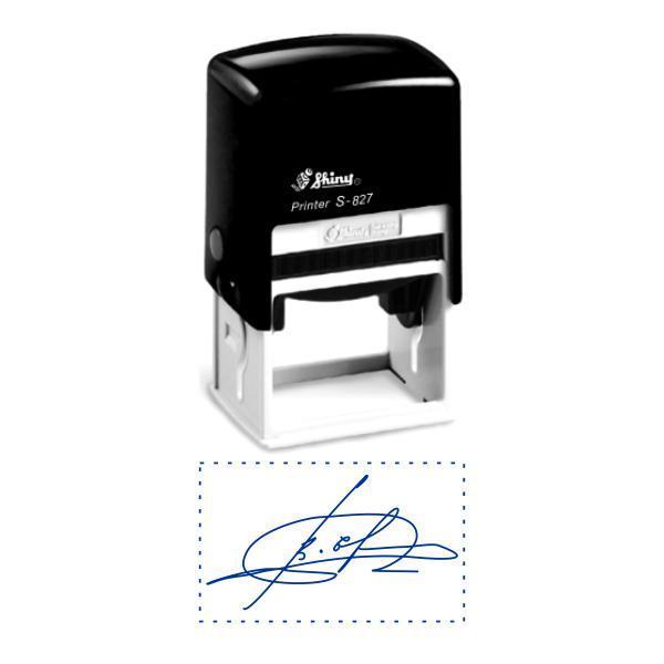 Факсимиле, подпись 30x50 мм с оснасткой Shiny S-827