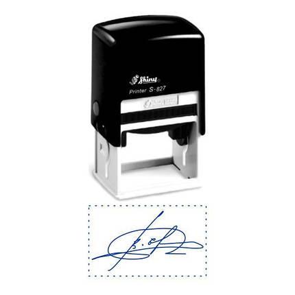 Факсимиле, подпись 30x50 мм с оснасткой Shiny S-827, фото 2