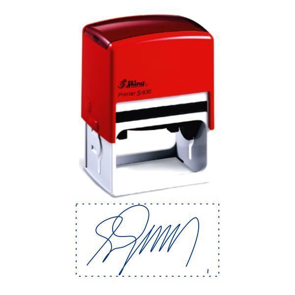 Факсиміле, підпис 38x75 мм з оснасткою Shiny S-830