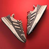 Женские кроссовки Adidas ZX 500 RM Grey, Женские Адидас З Икс 500 Серые