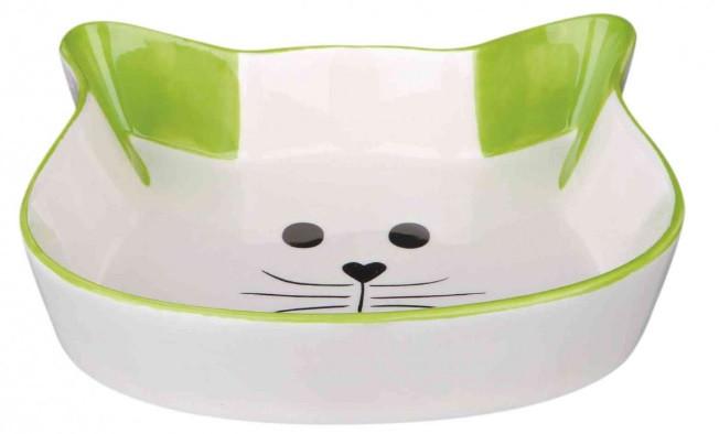 Керамическая миска кошачья мордочка для котов 0.25 л, Trixie
