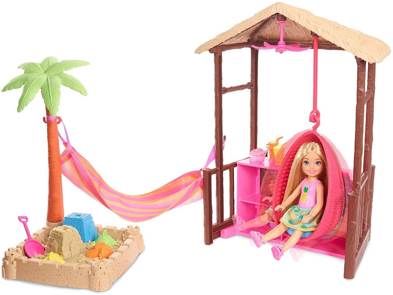 Игровой набор Barbie пляжный домик Челси Barbie Club Chelsea and Tiki Hut