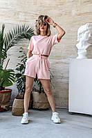 Спортивный костюм женский NOBILITAS 42 - 48 пудра трикотаж (арт. 20021)