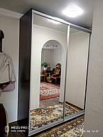 Шкаф-купе ШК-03 2000х600х2400 орех лесной / два зеркала, фото 1