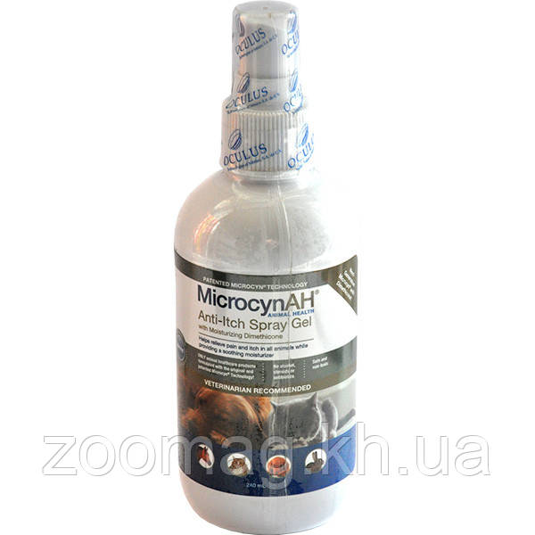 Microcyn Anti-Itch спрей-гель с диметиконом против зуда кожи (0.24 л)
