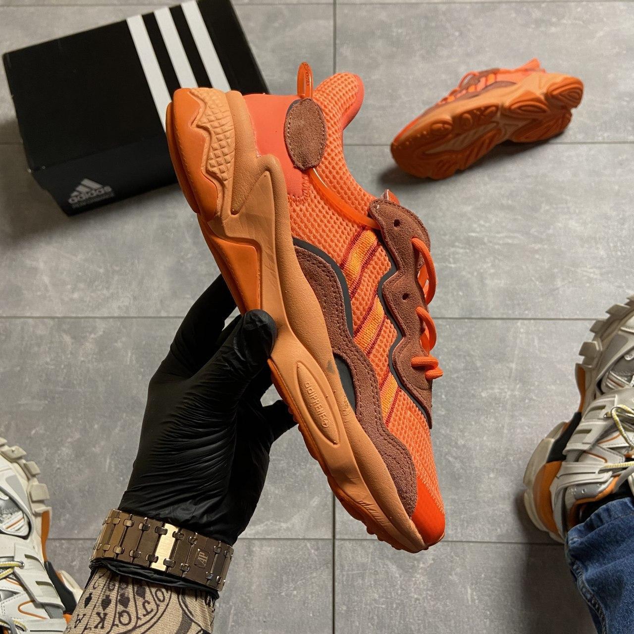 Женские кроссовки Adidas Ozweego Orange Red, Женские Адидас Озвиго Оранжевые