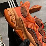 Женские кроссовки Adidas Ozweego Orange Red, Женские Адидас Озвиго Оранжевые, фото 8