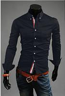Молодежная мужская рубашка черная