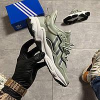 Женские кроссовки Adidas Ozweego Lite Gray, Женские Адидас Озвиго Зеленые