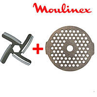Нож и сетка для мясорубки Moulinex (комплект) MS-0926063, фото 1