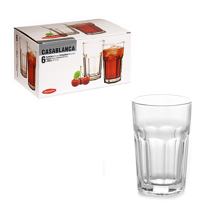 Набір стаканів Casablanka Pasabahce (6 штук) 280 мл. 52713