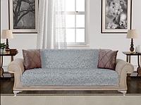 Накидка на диван велюровое 170*215 Турция Серая