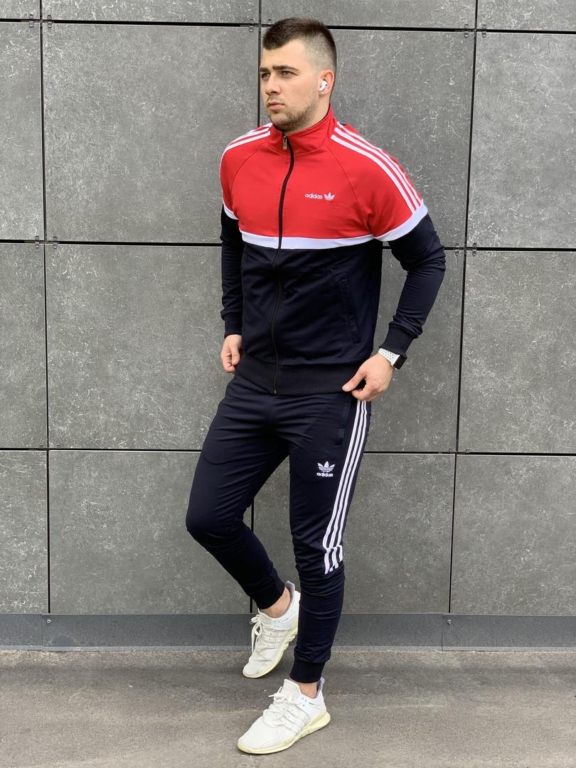Молодёжный двухцветный спортивный костюм  Адидас  S, M, L, XL