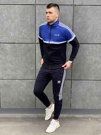 Молодёжный двухцветный спортивный костюм  Адидас  S, M, L, XL, фото 2