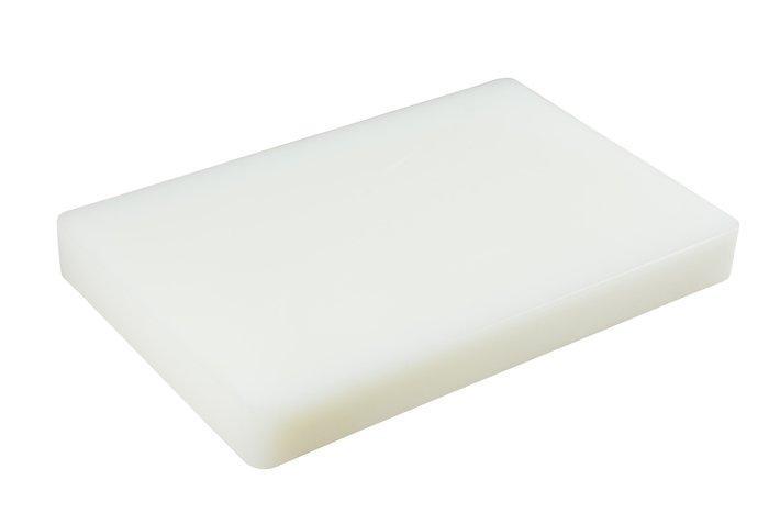 Доска разделочная пластиковая белого цвета 440*300*20 мм (шт)