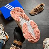 🔥 РЕФЛЕКТИВ 🔥 Adidas Ozweego Beige Адидас Озвиго 🔥 ВИДЕО ОБЗОР 🔥 Адидас женские кроссовки 🔥, фото 4