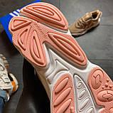 🔥 РЕФЛЕКТИВ 🔥 Adidas Ozweego Beige Адидас Озвиго 🔥 ВИДЕО ОБЗОР 🔥 Адидас женские кроссовки 🔥, фото 8