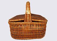 Пикниковая корзина из лозы, фото 1