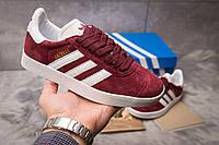Кроссовки женские Adidas Gazelle, бордовые, Женская обувь Адидас, весна/осень