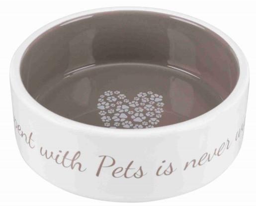 Керамическая миска для собак Pet's Home кремовая/бежевая, Trixie, 300 мл