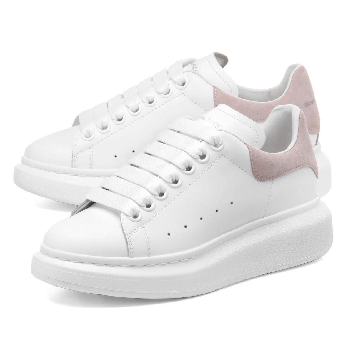 Кеды Alexander McQueen White Pink Белые женские
