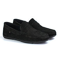 Черные замшевые перфорированные мокасины летняя обувь мужская Rosso Avangard ETHEREAL Black Vel Perf, фото 1