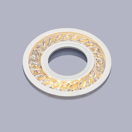 Белый светильник с лэд лентой (9,5см), фото 2