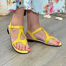 Босоножки кожаные женские Vasha Para 1372/2 36 цвет желтый