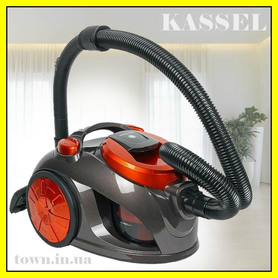 Колбовый пылесос Kassel 50280 ( 3000W ) без мешка, для сухой уборки, бытовой, для дома