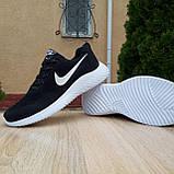 Чоловічі кросівки в стилі NIKE Air Max чорні на білому, фото 6