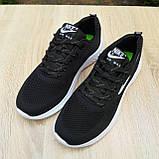 Чоловічі кросівки в стилі NIKE Air Max чорні на білому, фото 7