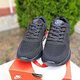 Чоловічі кросівки в стилі NIKE Air Max чорні, фото 4