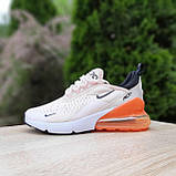 Жіночі кросівки в стилі NIKE Air Max пудрові з помаранчевим, фото 8