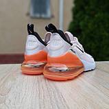 Жіночі кросівки в стилі NIKE Air Max пудрові з помаранчевим, фото 9