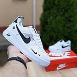 Кросівки жіночі в стилі Nike Air Force 1 LV8 низькі білі (чорна кома), фото 2