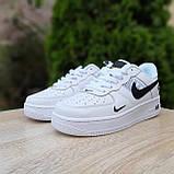 Кросівки жіночі в стилі Nike Air Force 1 LV8 низькі білі (чорна кома), фото 3