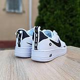 Кросівки жіночі в стилі Nike Air Force 1 LV8 низькі білі (чорна кома), фото 4