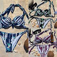 Раздельный стильный женский купальник в цветах
