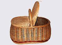 Плетеная пикниковая  багажная корзина из лозы